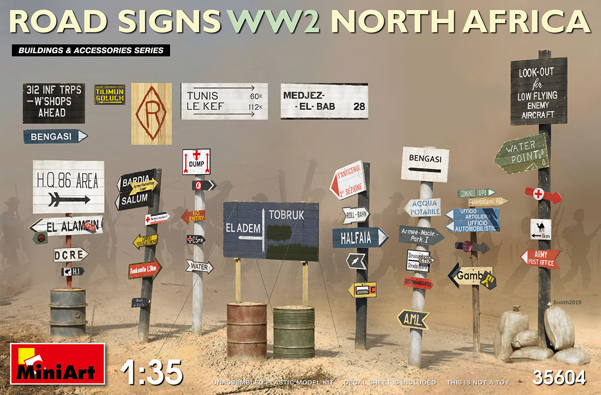 Road Signs WWII North Africa - Image 1