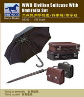 Civilian Suitcase With Umbrella Set (II World War) - Image 1
