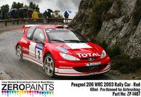 1487 Peugeot 206 WRC 2003 Rally Red - Image 1