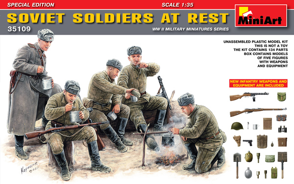SOVIET SOLDIERS AT REST    - Image 1