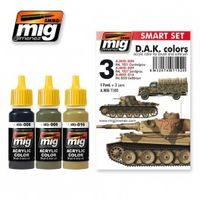 A.MIG 7102 D.A.K. Colors - acrylic color for brush and airbrush Set