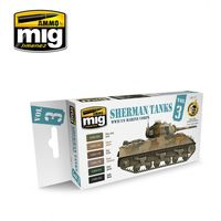 A.MIG-7171 Sherman Tanks Vol. 3 (WWII US Marine Corps) Set