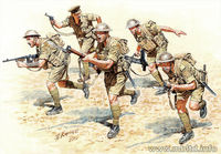 British Infantry in action (North Africa 1941-1943). Desert Battles. Kit 2