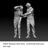 German tank crew - scratching head over the map