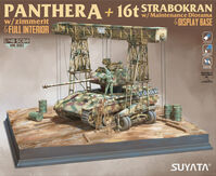 Panther A w/ Zimmerit & Full Interior + 16t Strabokran w/ Maintenance Diorama & Display Base