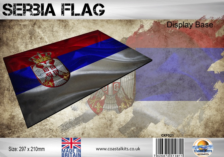 Serbia Flag 297 x 210mm - Image 1