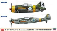 B-239 Buffalo & Messerschmitt Bf109G-6 `FAF` (Set of 2)