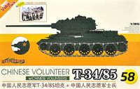 Chinese Volunteer T-34/85 with Chinese Volunteers
