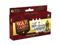 70153 War Games Paint Series - British Paint Set