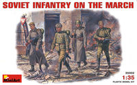 Soviet Infantry on March.WW II