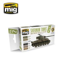 A.MIG-7170 Sherman Tanks Vol. 2 (WWII European Theater of Operations) Set